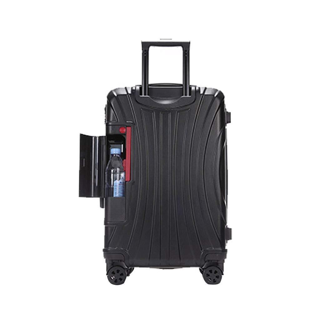 Absハードシェル旅行キャビンハンド荷物スーツケーススーパー軽量カップホルダーと4つの車輪、44 * 29 * 67 Cm  Black B07MLWHDQR