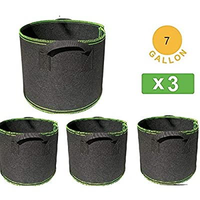 7/10/12/15/20/50/100 Gallon Garden Boxes, Grow Bags for Plants and Vegetables with Handles, Garden Thickened Nonwoven Fabric Pots 3-Pack : Garden & Outdoor