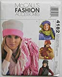 McCall's 4182 Sewing Pattern ~ Misses' Fleece Accessories; Hats, Scarves, Gloves and Mittens, Sizes S-M-L by McCall's