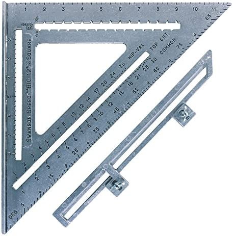 "Swanson Tool Co S0107 ""Big 12"" 12-Inch Speed Square Layout Tool with Blue Book"