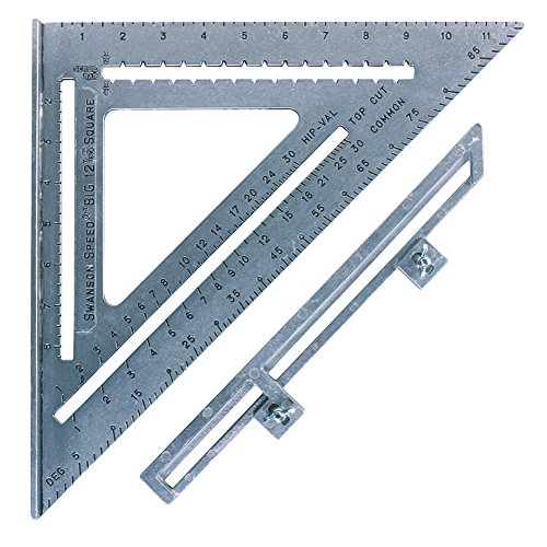 (Swanson Tool S0107 12-Inch Speed Square Layout Tool with Blue Book)