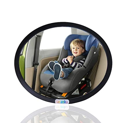 LW Baby Mirror Car No Headrest Back Seat View Rear Facing Infant In
