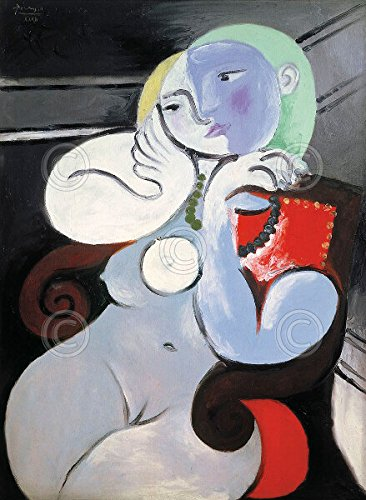 Nude Woman in a Red Armchair 1932 by Pablo Picasso Figurative Portrait Poster (Choose Size of Print)