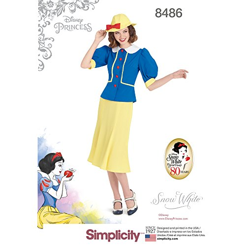Simplicity US8486H5 Disney Women's Snow White Costume Sewing Pattern, Sizes 6-14]()