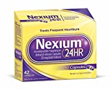 #8: Nexium 24HR (20mg, 42 Count) Delayed Release Heartburn Relief Capsules, Esomeprazole Magnesium Acid Reducer