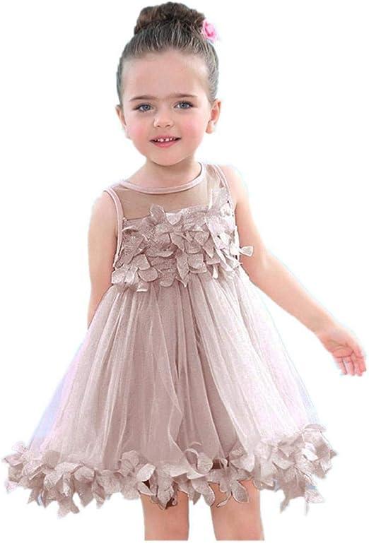 Summer Todder Kids Baby Girl Flower Princess Dress Tutu Party Dress Girl Clothes