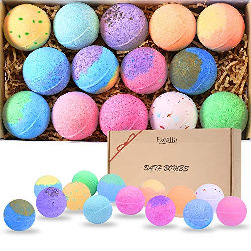 Bath Bombs Gift Set 14 - Lush Bubble Bath Fizzies Natural Vegan...