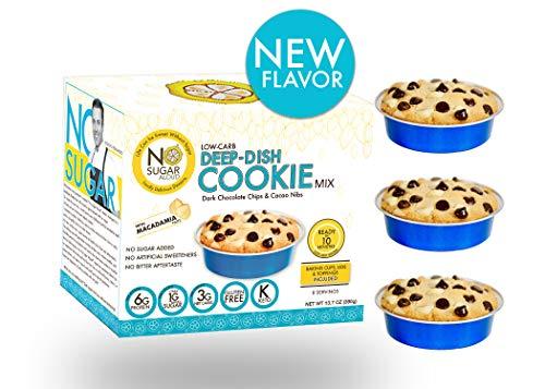 No Sugar Aloud, Cookie Mix (No sugar added, gluten free, no milk, egg free, keto, Vegan, Diabetic friendly) 13.7 0Z (Makes 8 cups) (Dark Chocolate Chips with Macadamia nuts)