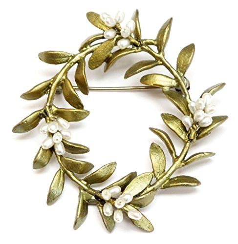 ''Flowering Myrtle'' Pin by Michael Michaud for Silver Seasons by Michael Michaud