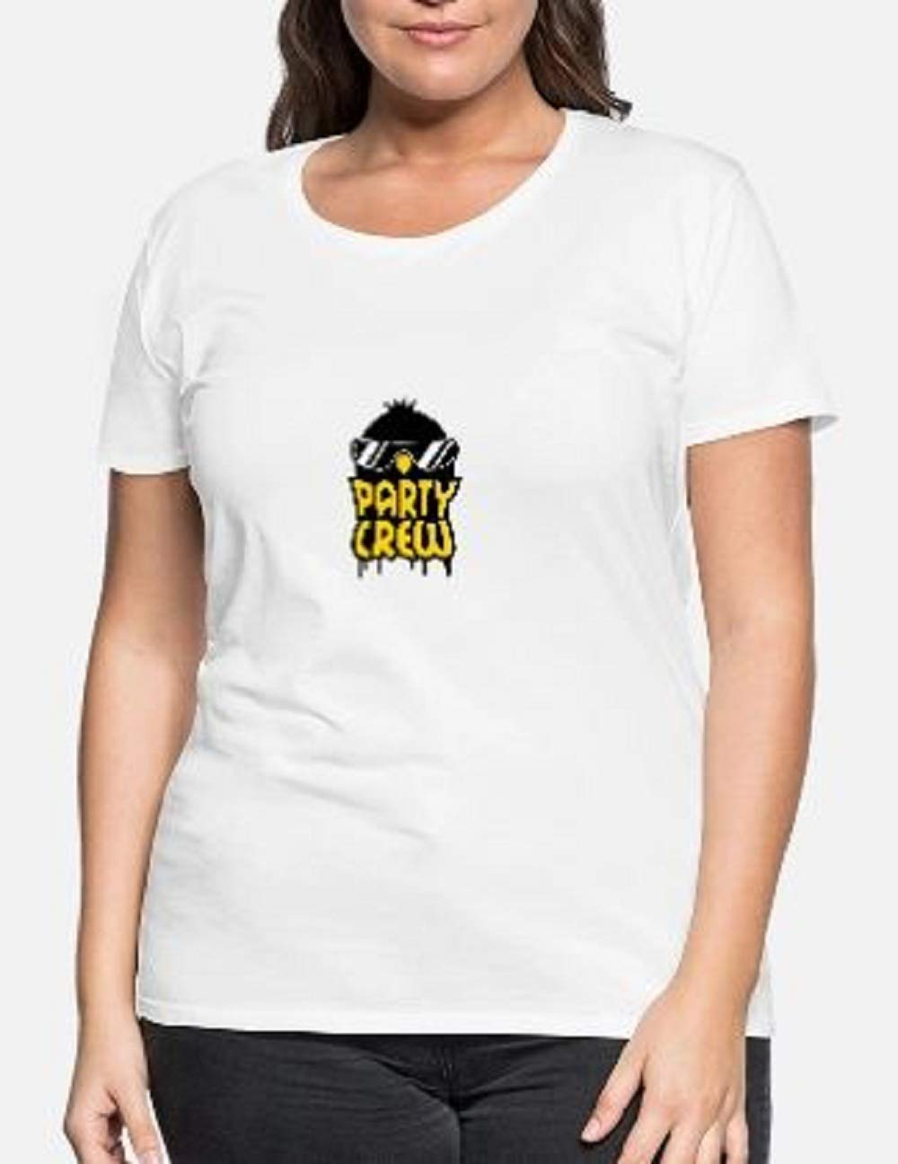 Cool Party Crew Penguin T Shirt For Funny Letter Short Sleeve Tees Tops
