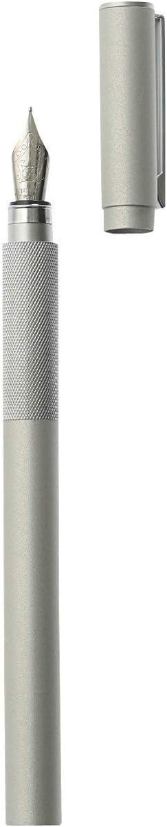 MUJI Aluminium F/üllfederhalter Feine Feder Mit 1 schwarzen Tintenpatrone 5-139040 Hergestellt in Japan