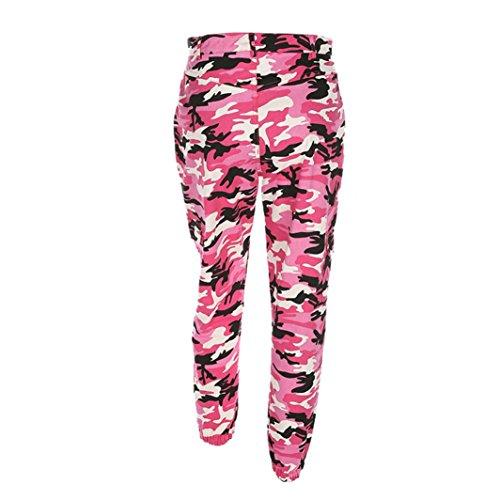 en Jeans Dcontract Camouflage Jaminy Femme Pantalon Cargo vif rose Pantalon Plein Camo air Sports PaPwX
