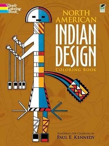 North American Indian Design Coloring Book (Dover Design Coloring Books) - Native American Art Masks