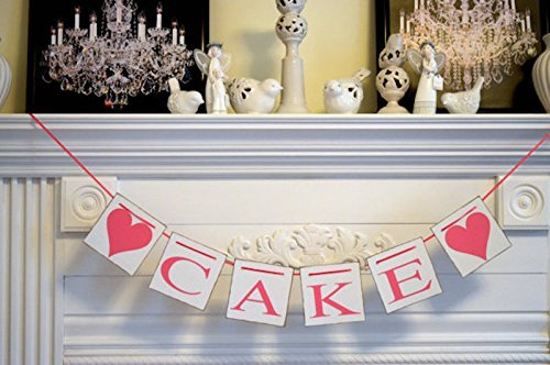 Amazon cake banner party decorations wedding cake banner cake banner party decorations wedding cake banner wedding reception decorations dessert table junglespirit Gallery