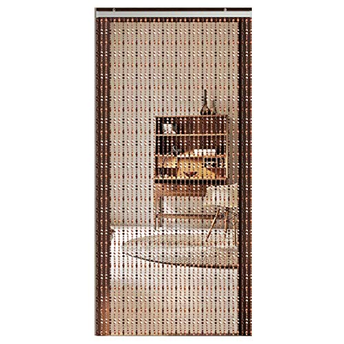 (LIQICAI Beaded Curtain Bead Strands Curtain for Doorway Closet Passage, Beautiful Home Decor Door Screen Divider for Wedding Party Decoration (Color : Brown, Size : C 0.9mx2.2m))