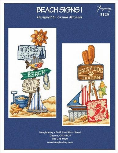 Beach Signs II (Model Number: 3126) Cross Stitch Chart and Free Embellishment