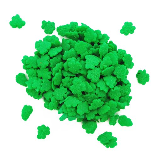 Shamrock Sprinkles - Dress My Cupcake DMC27288 Decorating Edible Cake and Cookie Confetti Sprinkles, Mini Shamrocks, 2.6-Ounce