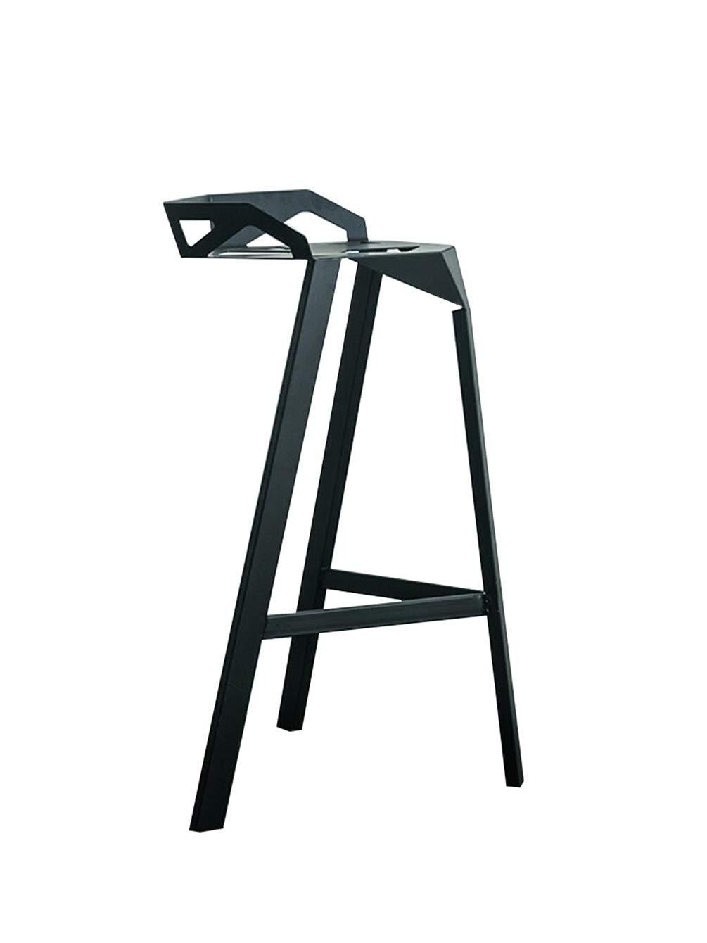 Black 75cm BARSTOOLRI Bar Stool, Ergonomics Metal Adjustable Non-Slip Breakfast Stools for Kitchen Office Counter Chair (color   Black, Size   75cm)