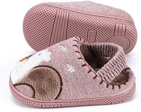 ZONGLIAN スリッパ 子供用 ルームシューズ 冬 室内履きスリッパ 滑り止め かかと付き 防寒 暖かい 冬用 歩きやすい 濯可スリッパ 旅行用 超軽量 男女兼用