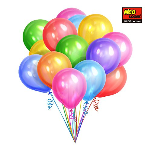 Neo LOONS 12 Inch Pearl Assorted Color Latex Party Balloons (144 Pcs)-Comes from South Korea]()
