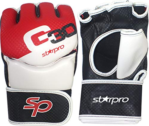 Starpro MMA Grappling Gloves Martial Arts Sparring Punching Bag Cage Fighting Maya Hide PU Hi-Tech Technology Mitts UFC Combat Training from Starpro