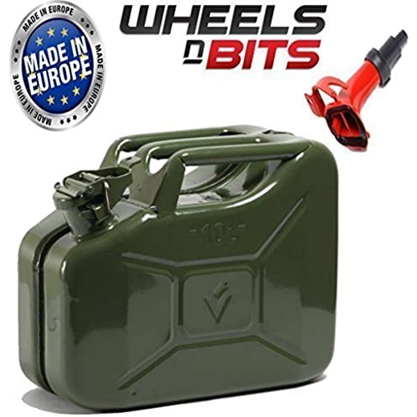 GroundMaster 10L Jerry Can Container Petrol Oil Water Diesel Fuel Storage