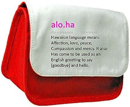 Aloha definición Funny alternativa no en el diccionario embrague bolsa o estuche, color rosso talla única: Amazon.es: Oficina y papelería