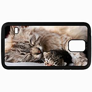 Fashion Unique Design Protective Cellphone Back Cover Case For Samsung GalaxyS5 Case Cat Black