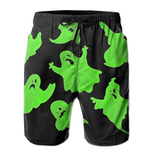 Big Boy Quick Dry Halloween Ghost Beach Shorts Swim Trunks Beach Board Shorts (Les Activites De L'halloween)