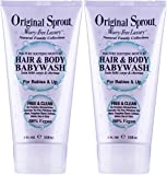 Original Sprout Hair and Body Baby Wash. Organic Vegan Baby Shampoo and Body Wash for Sensitive Skin.4 oz. (2 pack)