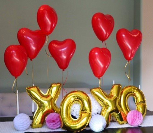 Valentines XOXO Balloon Set 16