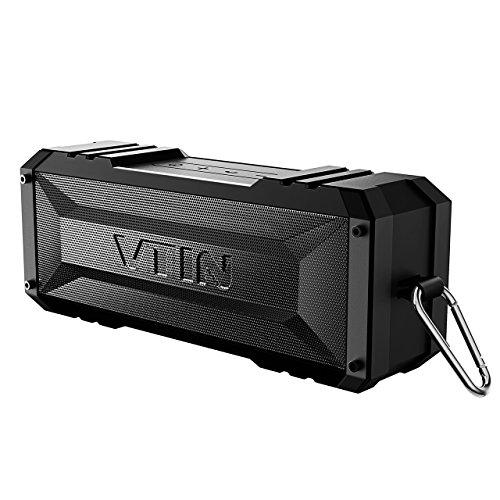 Vtin 20W Outdoor Bluetooth Speaker, Loud Volume, 30 Hours Playtime Portable Wireless Speaker, Waterproof, Dustproof, Shockproof for Indoor/Outdoor Activities - Shower, Pool, Car, Home (Black)