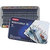 Derwent Watercolor Pencils, 3.4mm Core, Metal Tin, 36 Count (32885)
