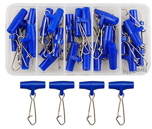 Sinker Snap (Jasmine Heavy Duty Sinker Slides With Stainless Steel Snaps High-strength Fishing Braid Line Sinker Slider Slides (Blue Color 25pcs/box))