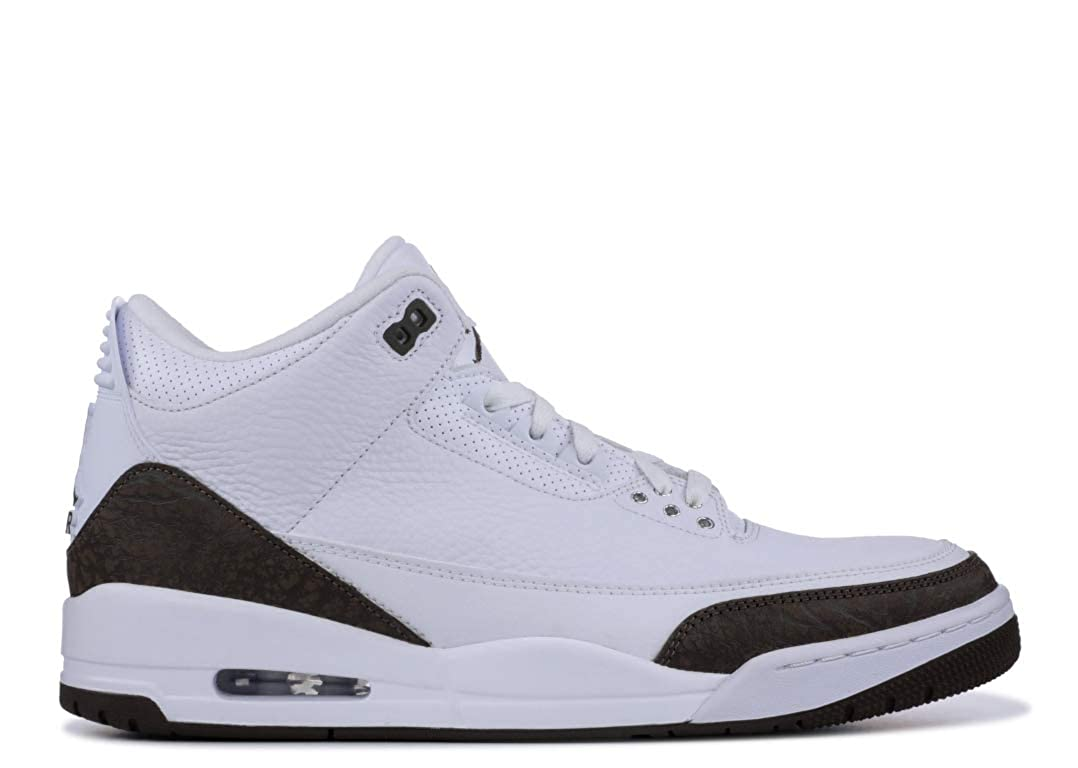 brand new dd84f 014c5 Amazon.com   Nike Men s Air Jordan 3 Retro Mocha White Dark Mocha-Chrome  136064-122 (Size  10.5)   Basketball