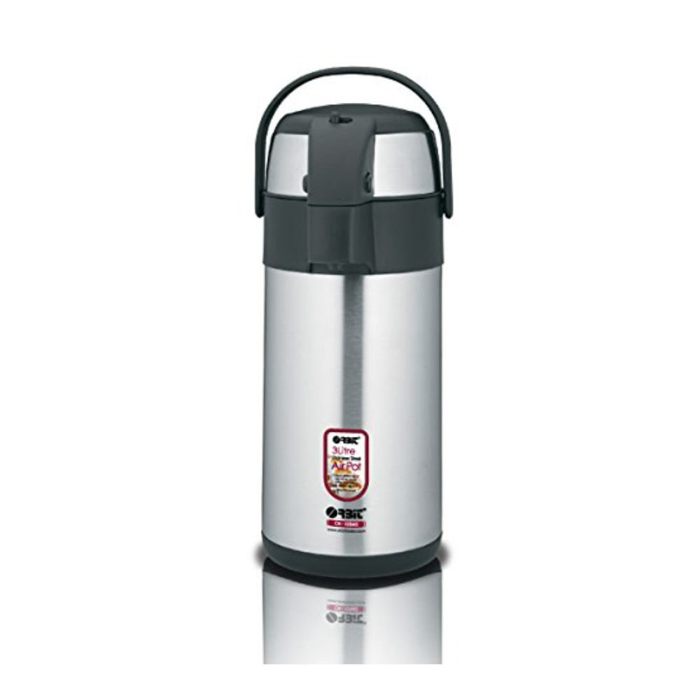 Insulated Hot & Cold Coffee / Tea Airpot Beverage Dispenser - Stainless Steel - 3 Litre - great for buffets and parties! by Nextday Catering Equipment Supplies UK