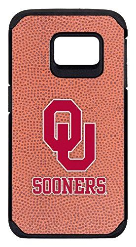 NCAA Oklahoma Sooners Classic Football Pebble Grain Feel Samsung Galaxy S6 Edge Case, One Size, Brown - Pebble Oklahoma Sooners