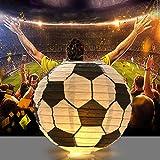 Kesoto 8 Inch Soccer Ball Paper Lantern Decoration