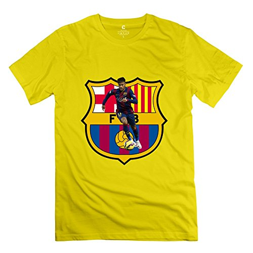 RIen Men's 2015 Champions League 2015 UEFA Barcelona Neymar T-Shirt XS