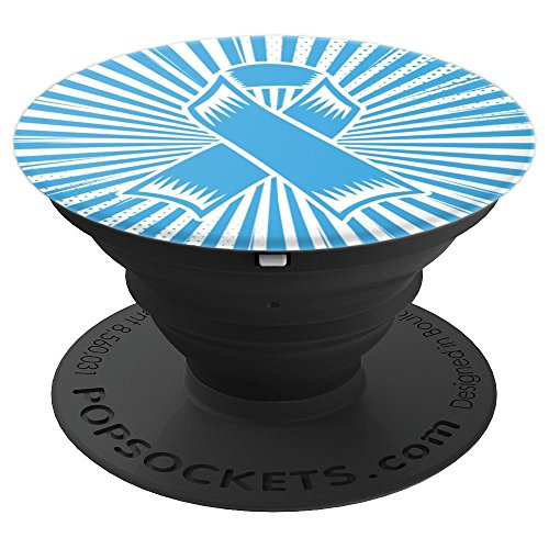 Lymphedema Awareness Gifts- Lymphedema Ribbon - PopSockets Grip and Stand for Phones and Tablets by Lymphedema Phone Accessories