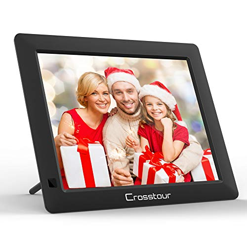 Digital Picture Frame, Crosstour 8 Inch Electronic Photo Frame, Music/Video/Calendar/Alarm, 4:3 HD Display with Remote Contro, Automatic Rotation, Christmas/Halloween/Birthday Gift