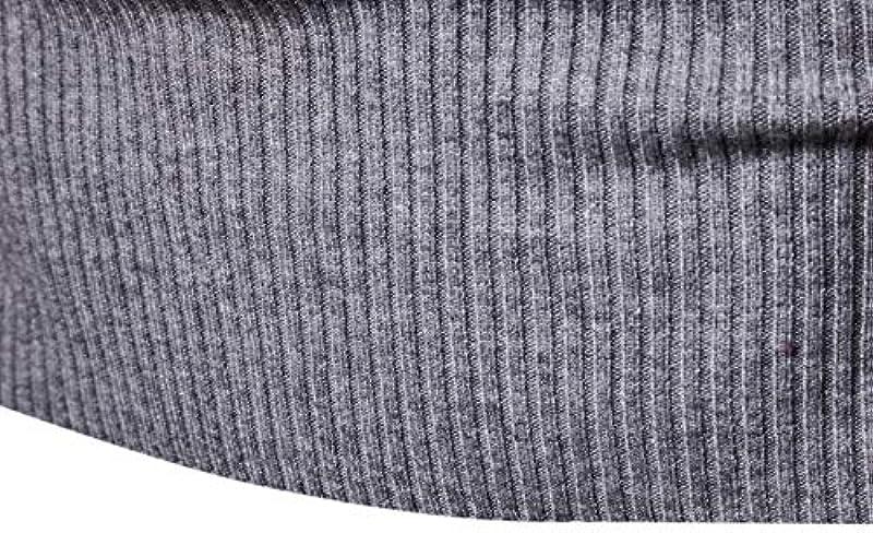 Elonglin męski sweter z rolowanym kołnierzem sweter z dzianiny Slim Fit luźny top: Odzież