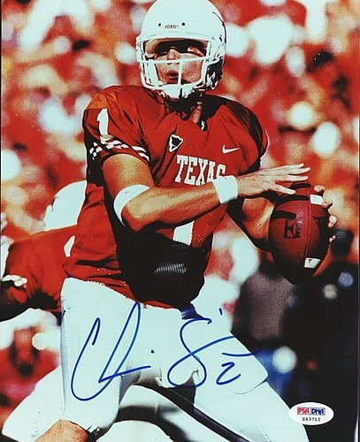 - Chris Simms Signed 8x10 Photograph University of Texas - Certified Genuine Autograph By PSA/DNA - Autographed Photo