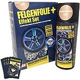 mibenco 71000032 FELGENFOLIE+ Effekt Set, 2 x 400 ml, Kupfer-Metallic - Flüssiggummi Spray / Sprühfolie - Neue Effekt-Farbe und Schutz zum Felgen lackieren