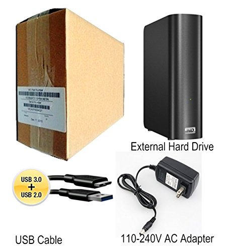 2TB External Hard Drive for Backup or Additional Storage - Equipped W/ Ultra Fast USB 3.0 Interface & AC Adapter - WD My Book for Windows PC and Mac WDBACW0020HBK by My Book (Image #1)