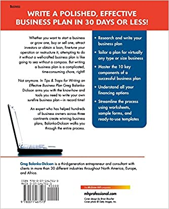 Tips and Traps For Writing an Effective Business Plan: Greg ...