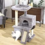 PAWZ Road Cat Tree Luxury Cat Tower with Double Condos, Spacious Perch, Fully Wrapped Scratching Sisal Posts and Replaceable Dangling Balls 14