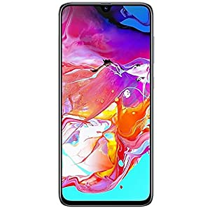 Samsung Galaxy A70 (128GB, 6GB RAM) 6.7″ Display, On-Screen Fingerprint, 25W Super-Fast Charging, Global 4G LTE GSM Factory Unlocked A705MN/DS (International Version, No Warranty) (White)