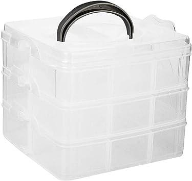 Rosenice - Caja organizadora con asa, transparente: Amazon.es ...