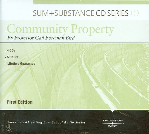 Sum and Substance Audio on Community Property by West Academic Publishing